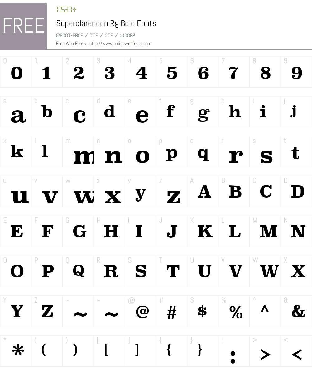 Superclarendon Font Screenshots