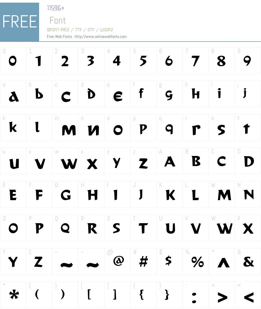 CassandreW00-Bold Font Screenshots