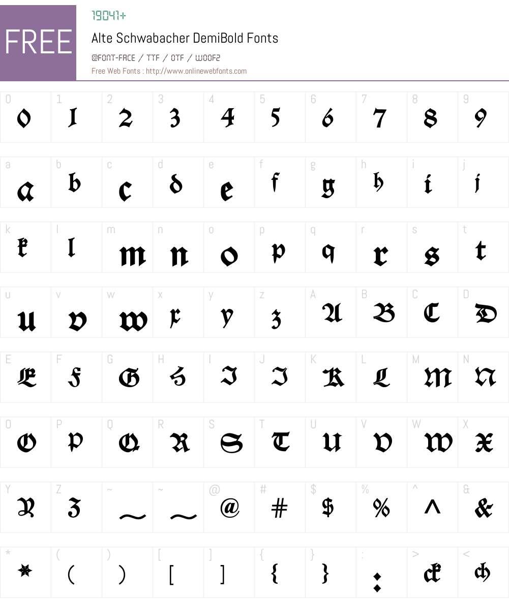 Alte Schwabacher Font Screenshots