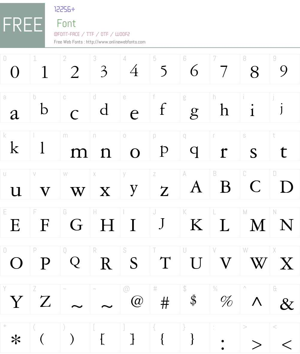 Garamond3W01 Font Screenshots