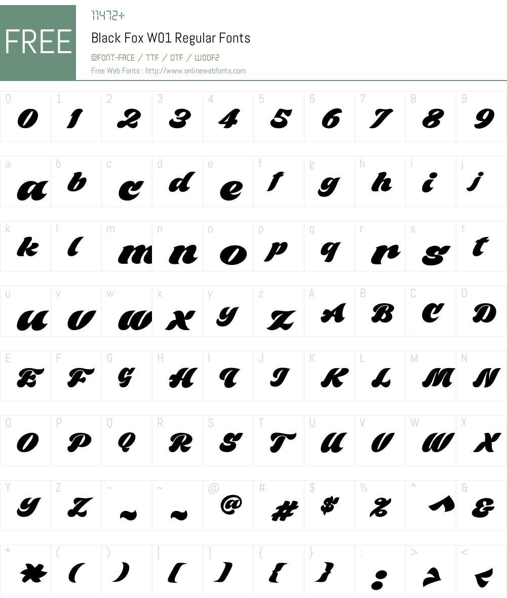 BlackFoxW01-Regular Font Screenshots