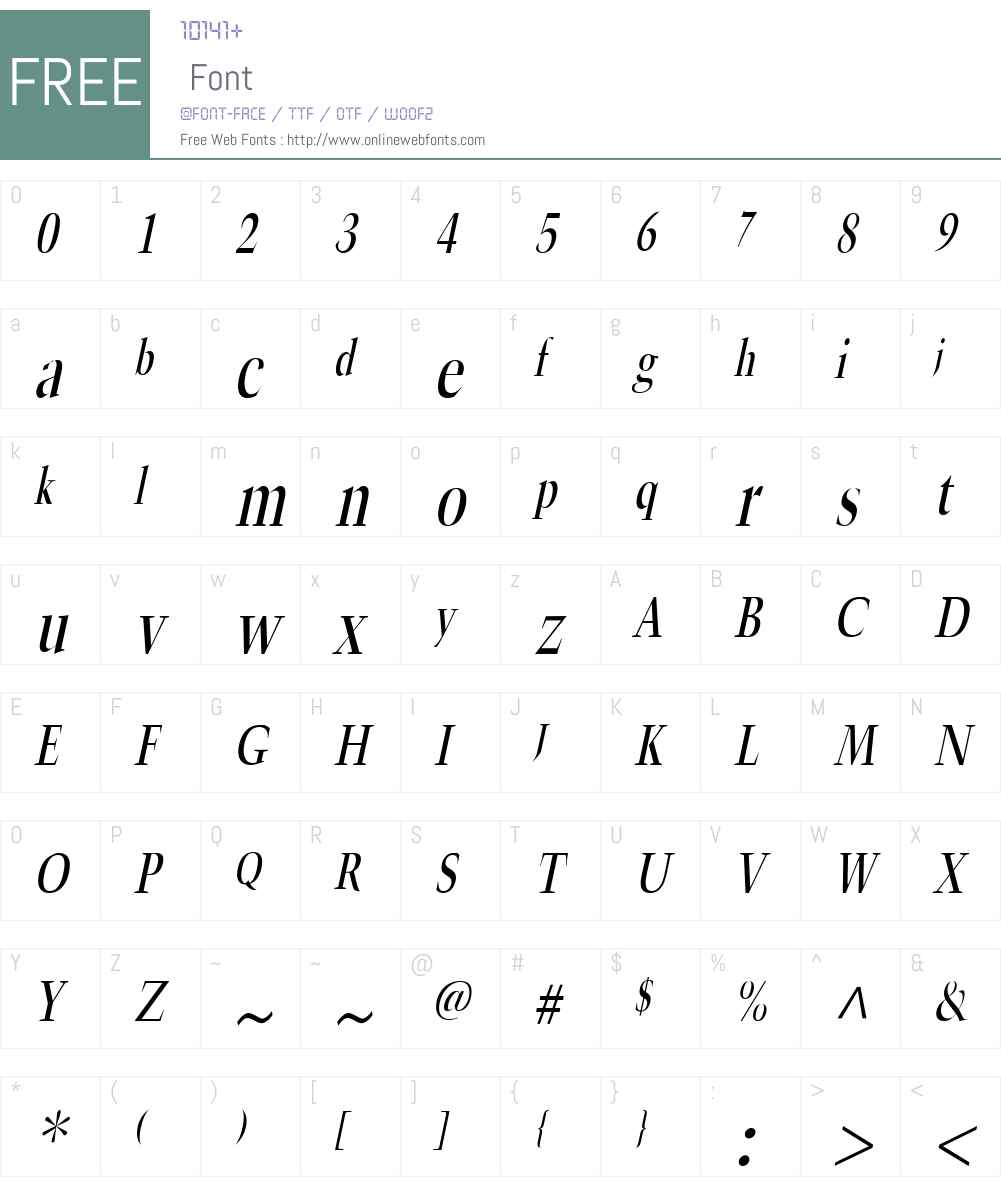 Horn Condensed Font Screenshots