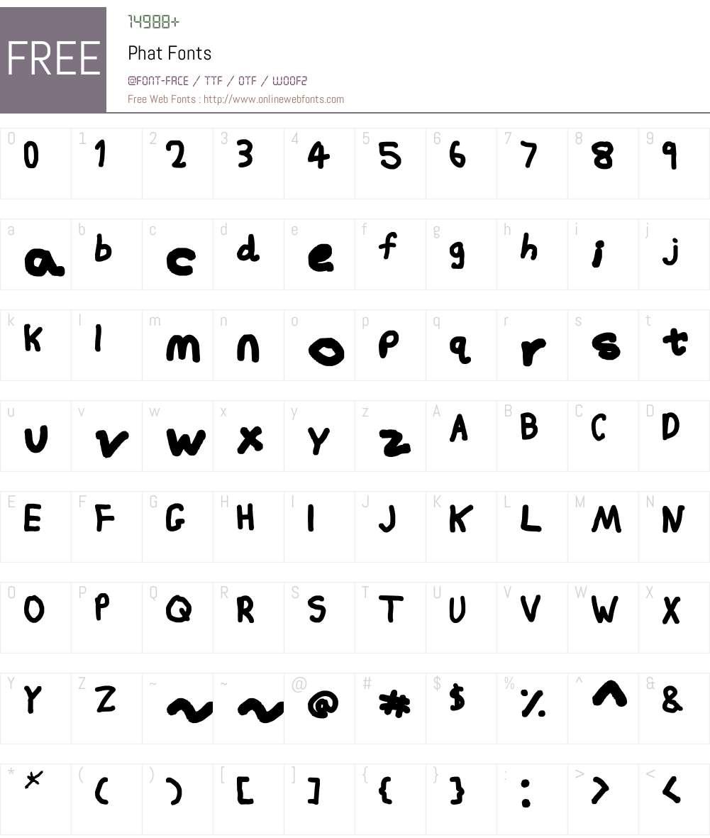 Phat Font Screenshots