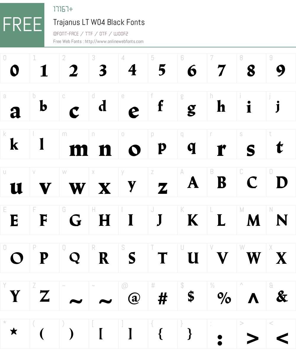Linotype Trajanus Font Screenshots