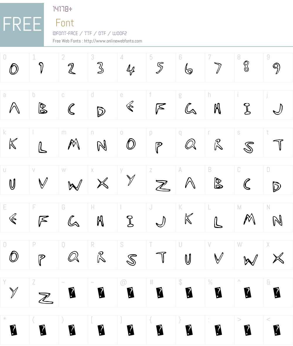 StarFishy Font Screenshots