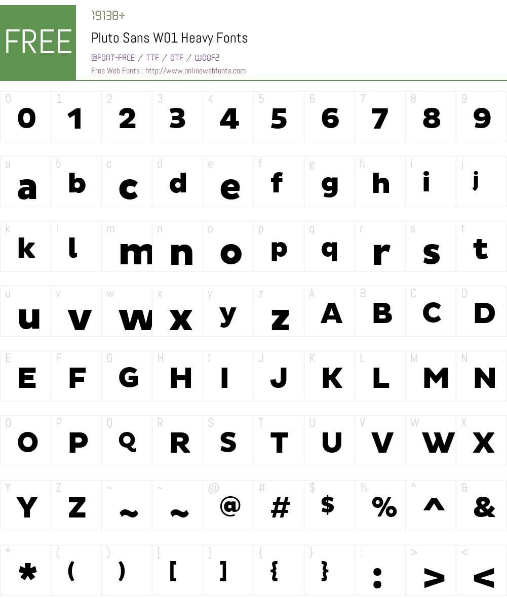 PlutoSansW01-Heavy Font Screenshots