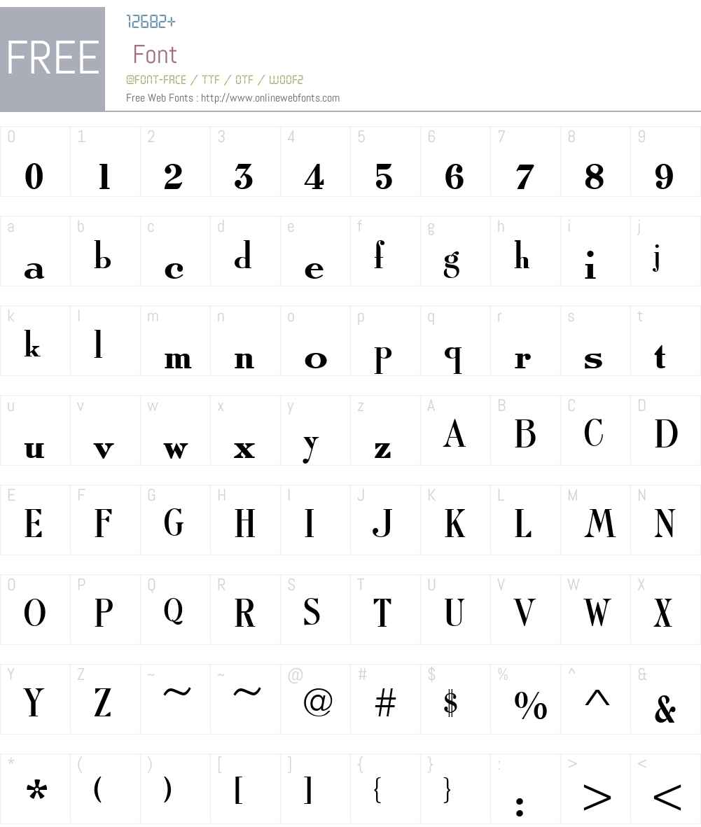 RomanSolT Font Screenshots