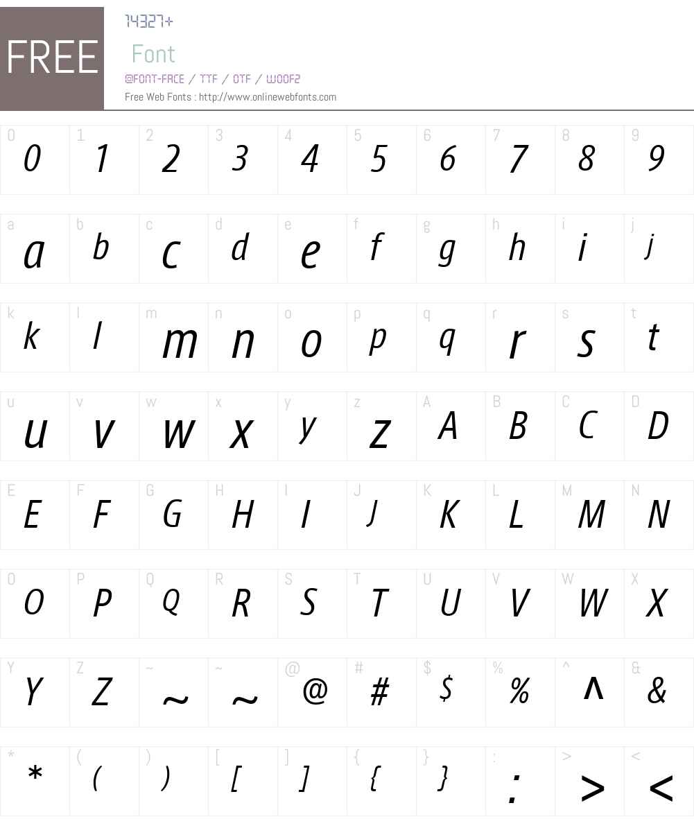 AxisLatinCondPro-It Font Screenshots