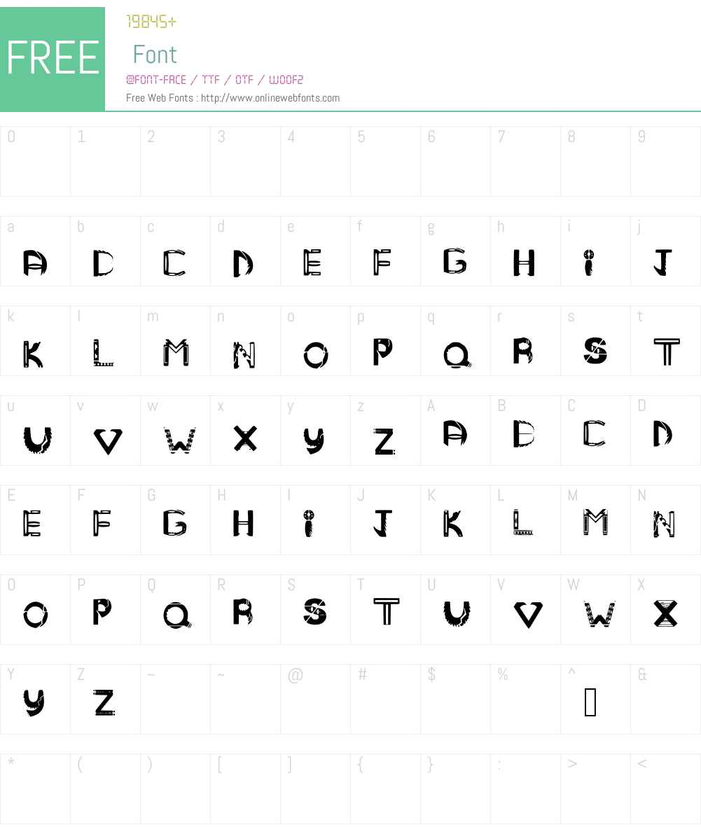 MANDMTRIBAL Font Screenshots