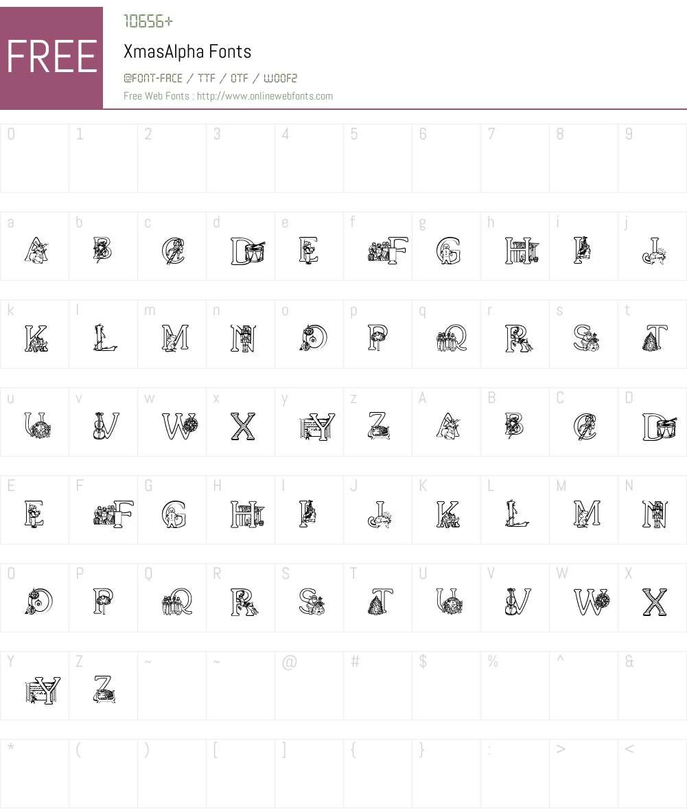 XmasAlpha Font Screenshots