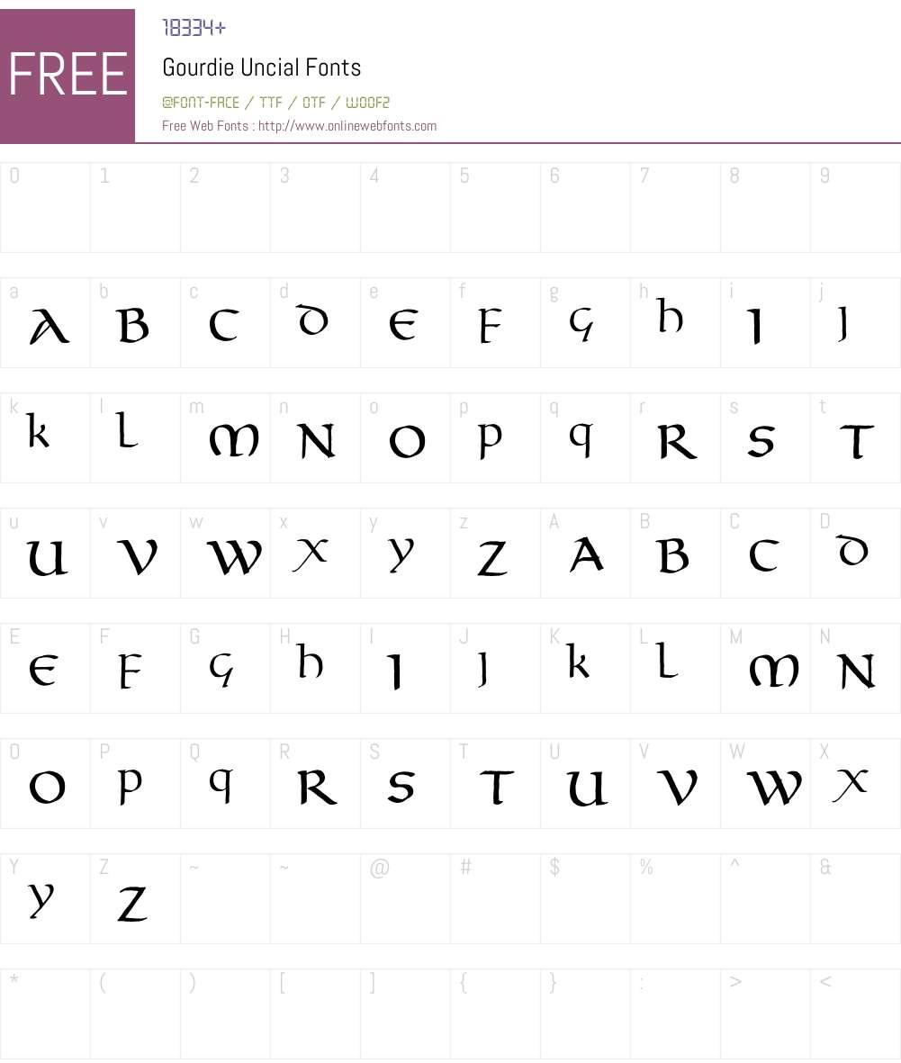 Gourdie Uncial Font Screenshots
