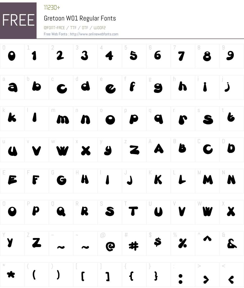 GretoonW01-Regular Font Screenshots