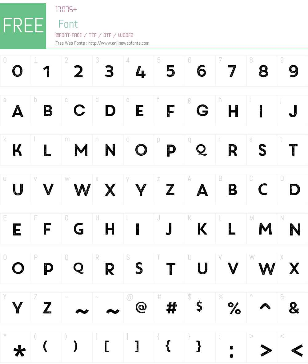 CoreCircusRoughW00-Regular Font Screenshots