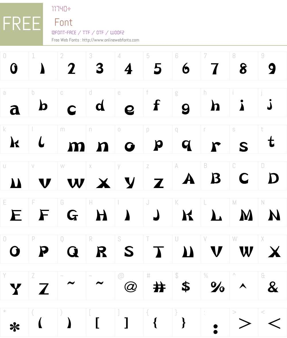HY Hua Die Simplified Chinese Font Screenshots