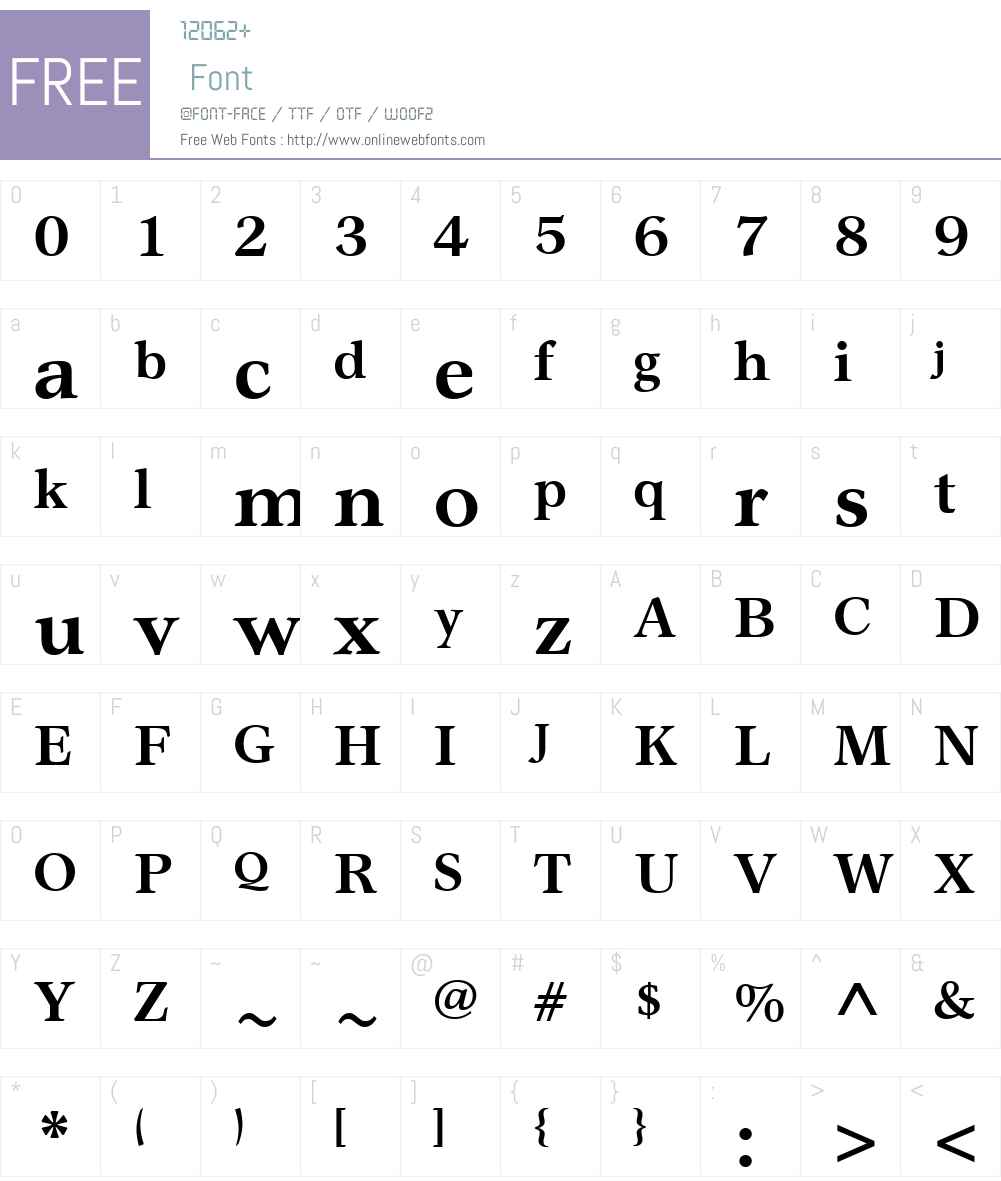 GarthGraphicW01-Bold Font Screenshots