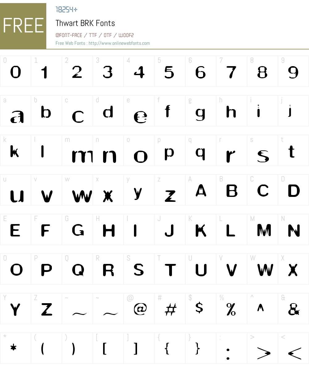 Thwart BRK Font Screenshots