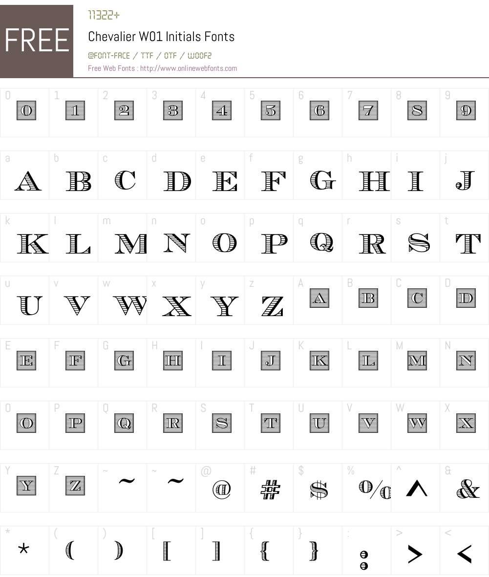 ChevalierW01-Initials Font Screenshots
