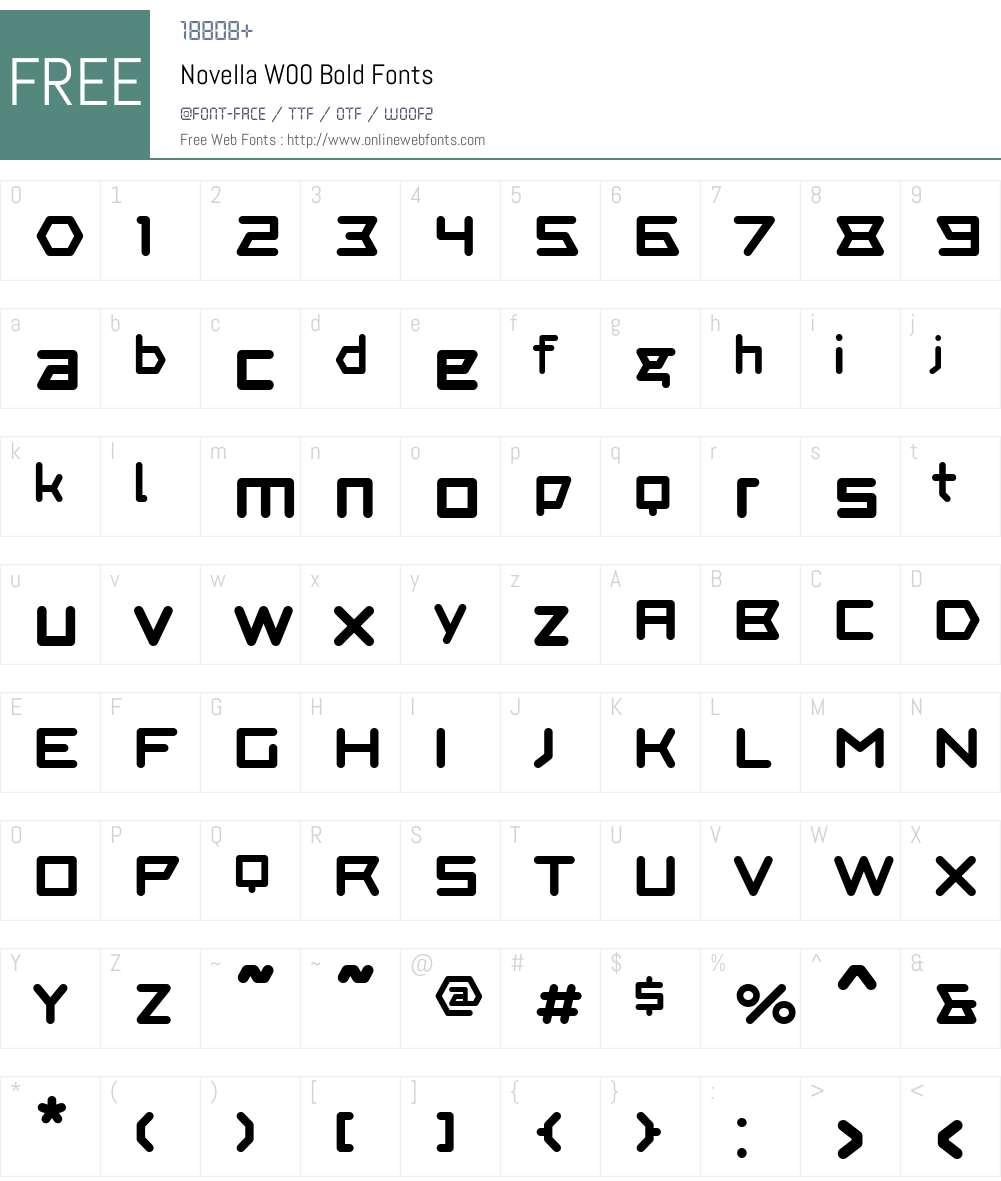 NovellaW00-Bold Font Screenshots
