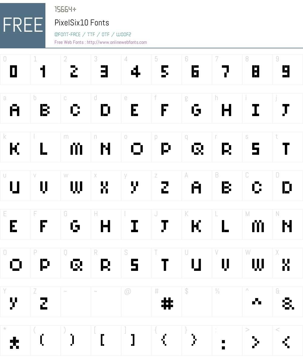 PixelSix10 Font Screenshots