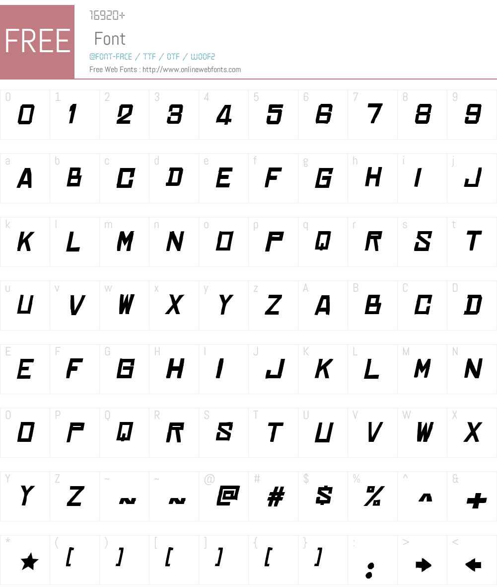 Chinese Rocks Xp Font Screenshots