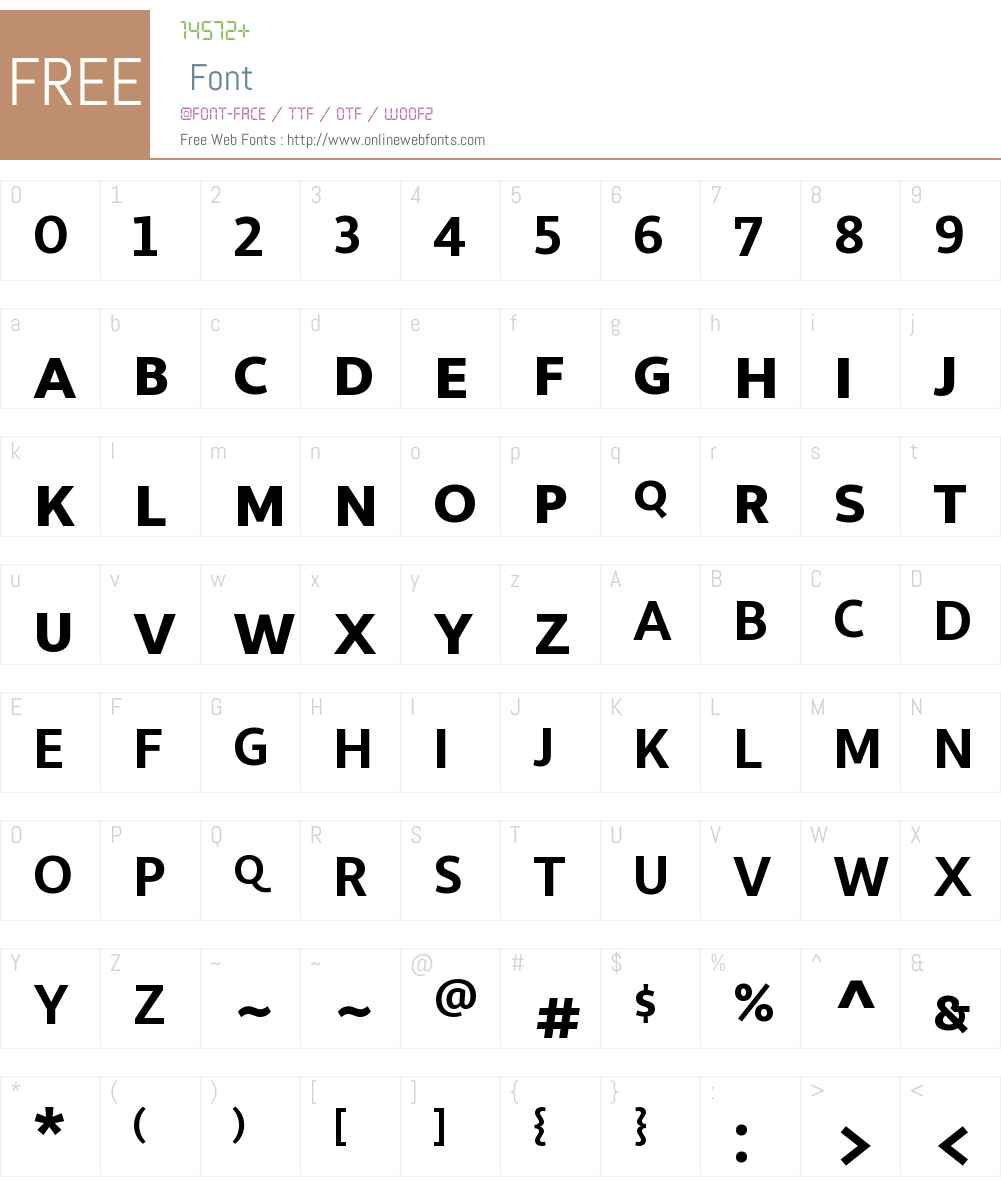 LibertadW00SC-Bold Font Screenshots
