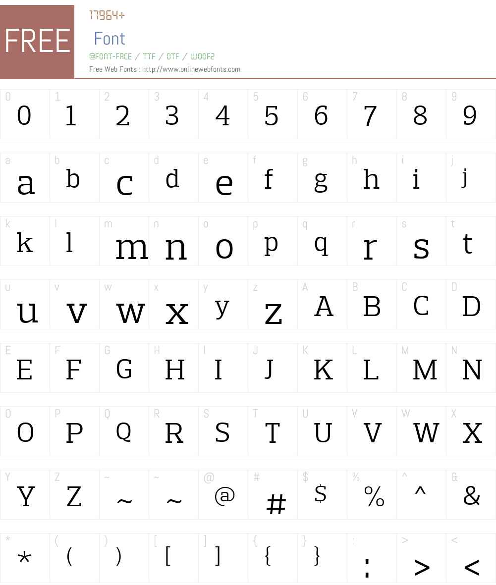 PreloSlabW01-Book Font Screenshots