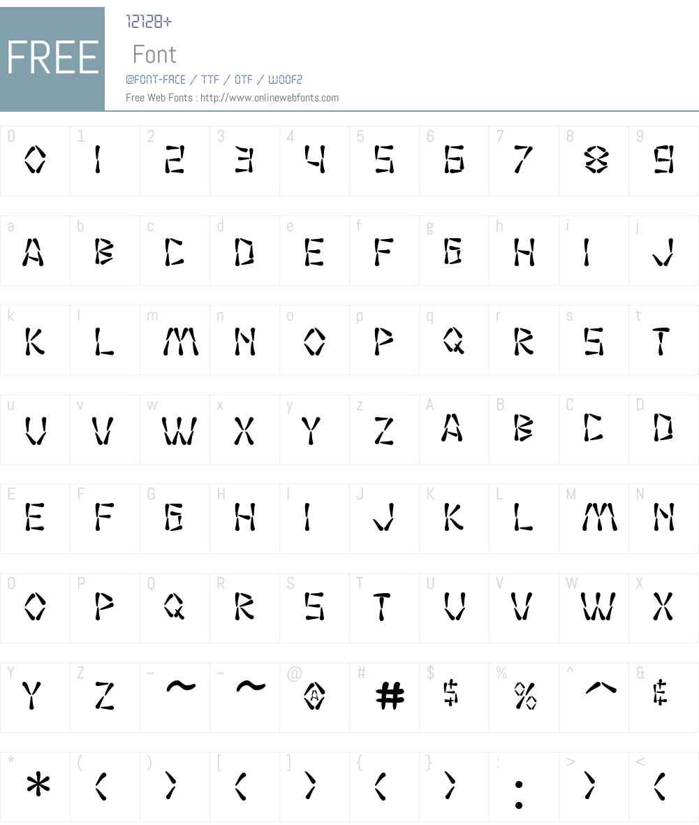 SF Wasabi Font Screenshots