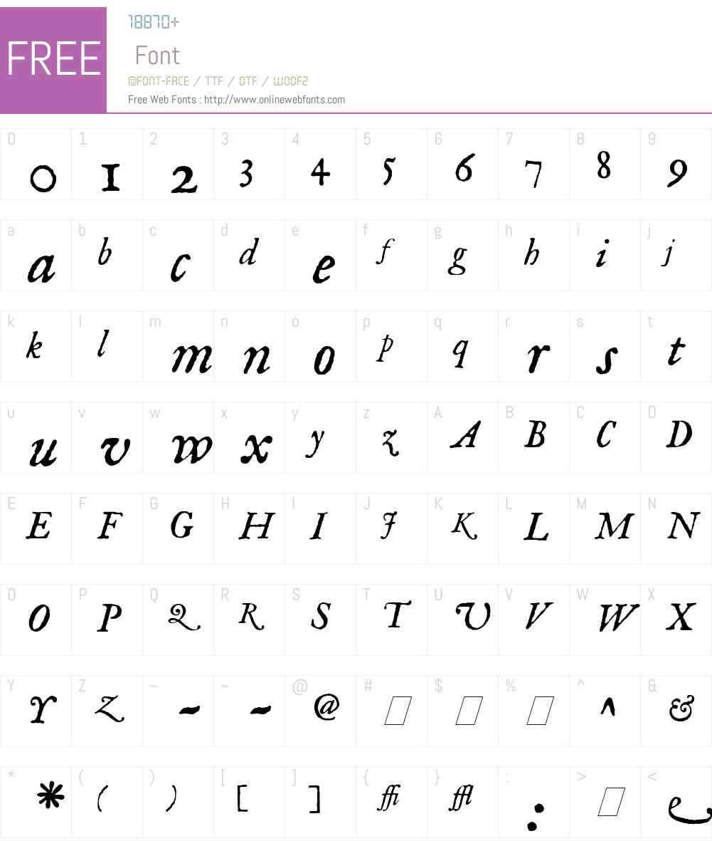 IM FELL English Font Screenshots