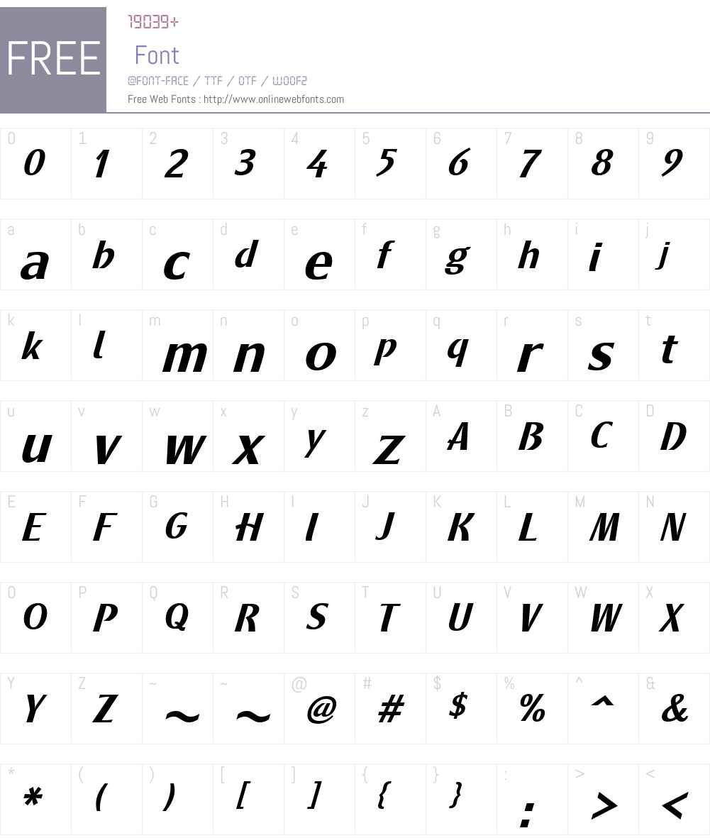 MetamodernaW01-MediumItalic Font Screenshots