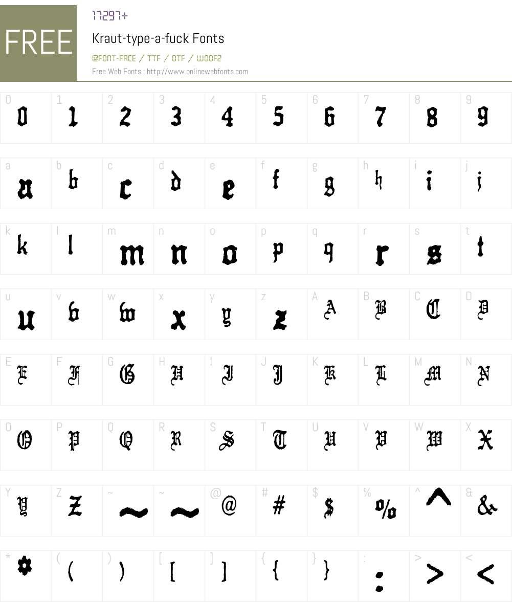 Kraut-type-a-fuck Font Screenshots