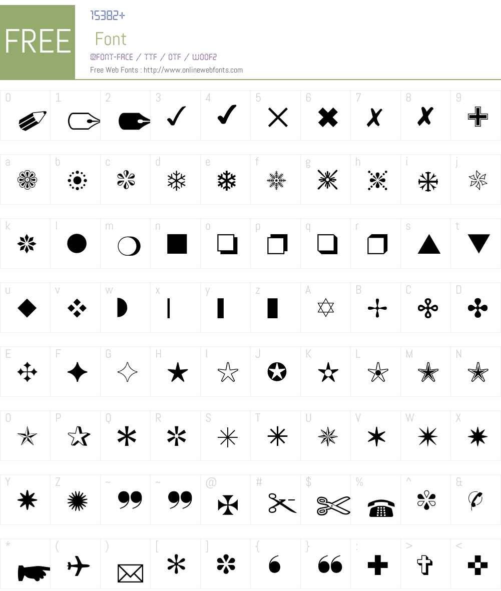 Monotype Sorts Font Screenshots
