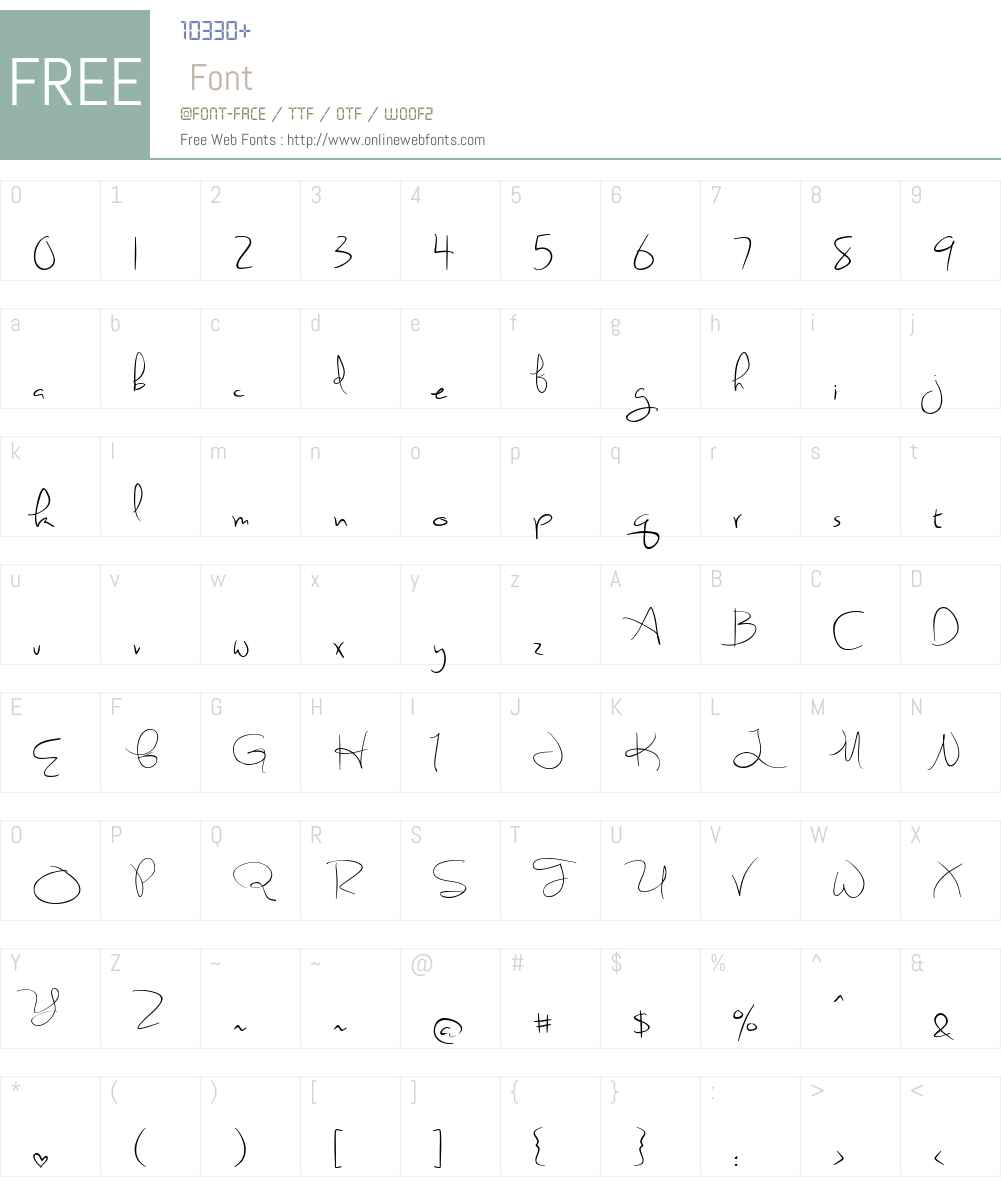 Sweetly Broken Font Screenshots