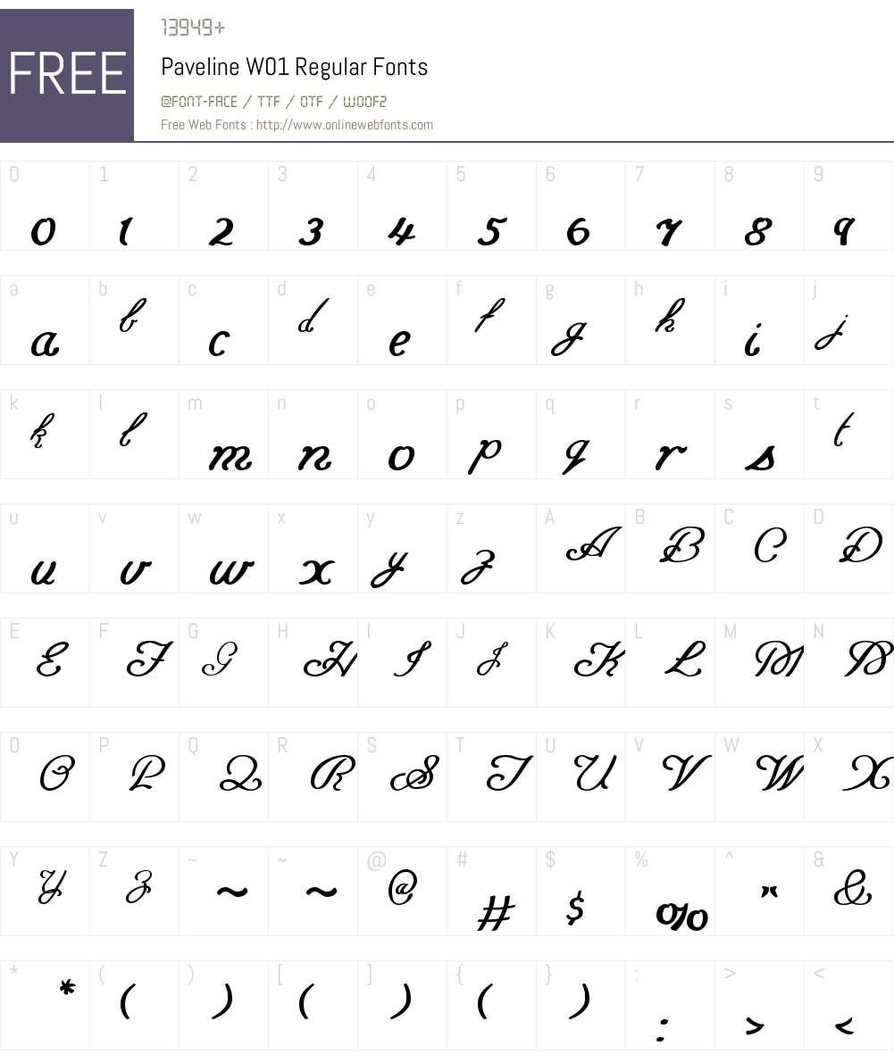 PavelineW01-Regular Font Screenshots