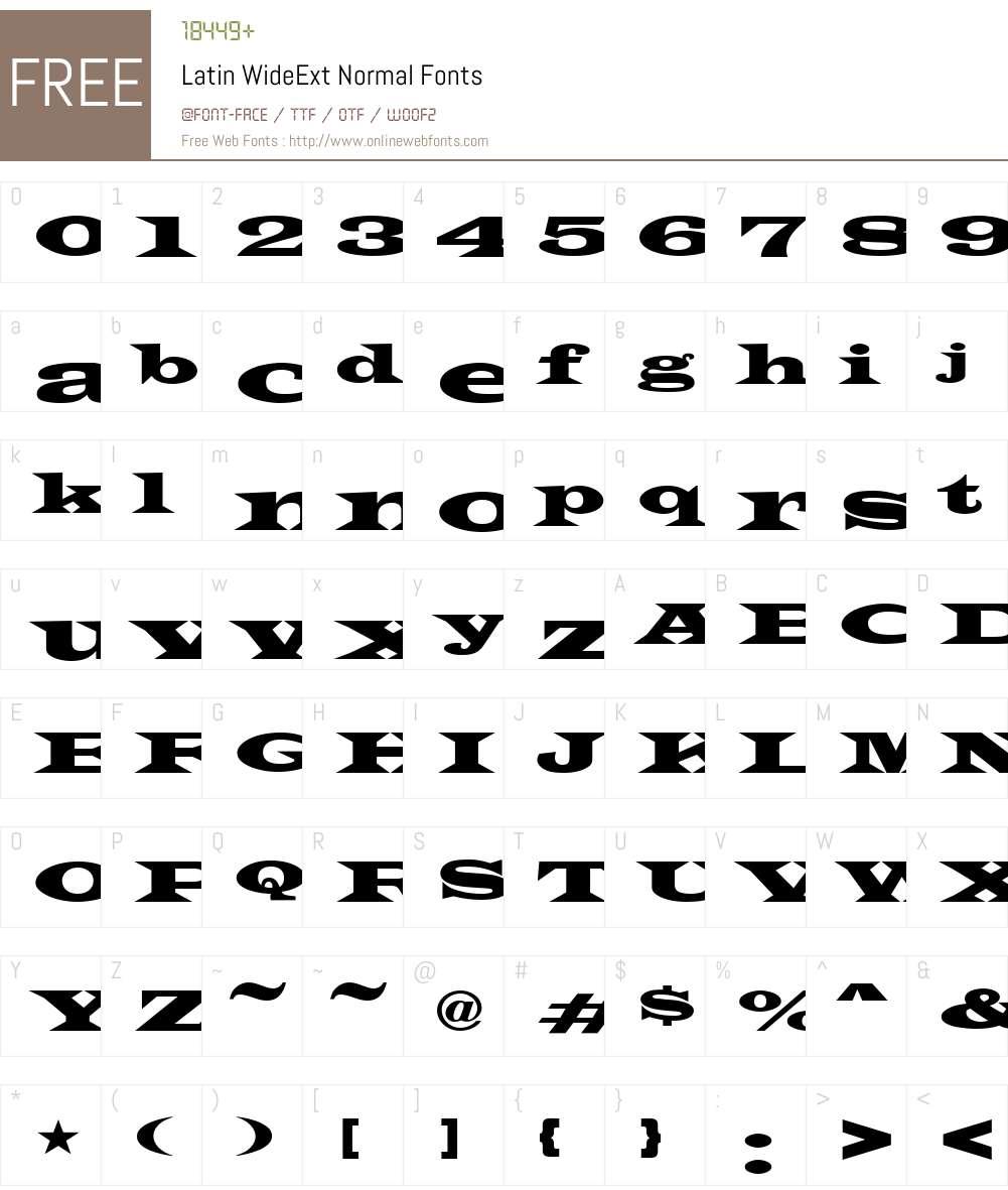 Latin-WideExt Font Screenshots