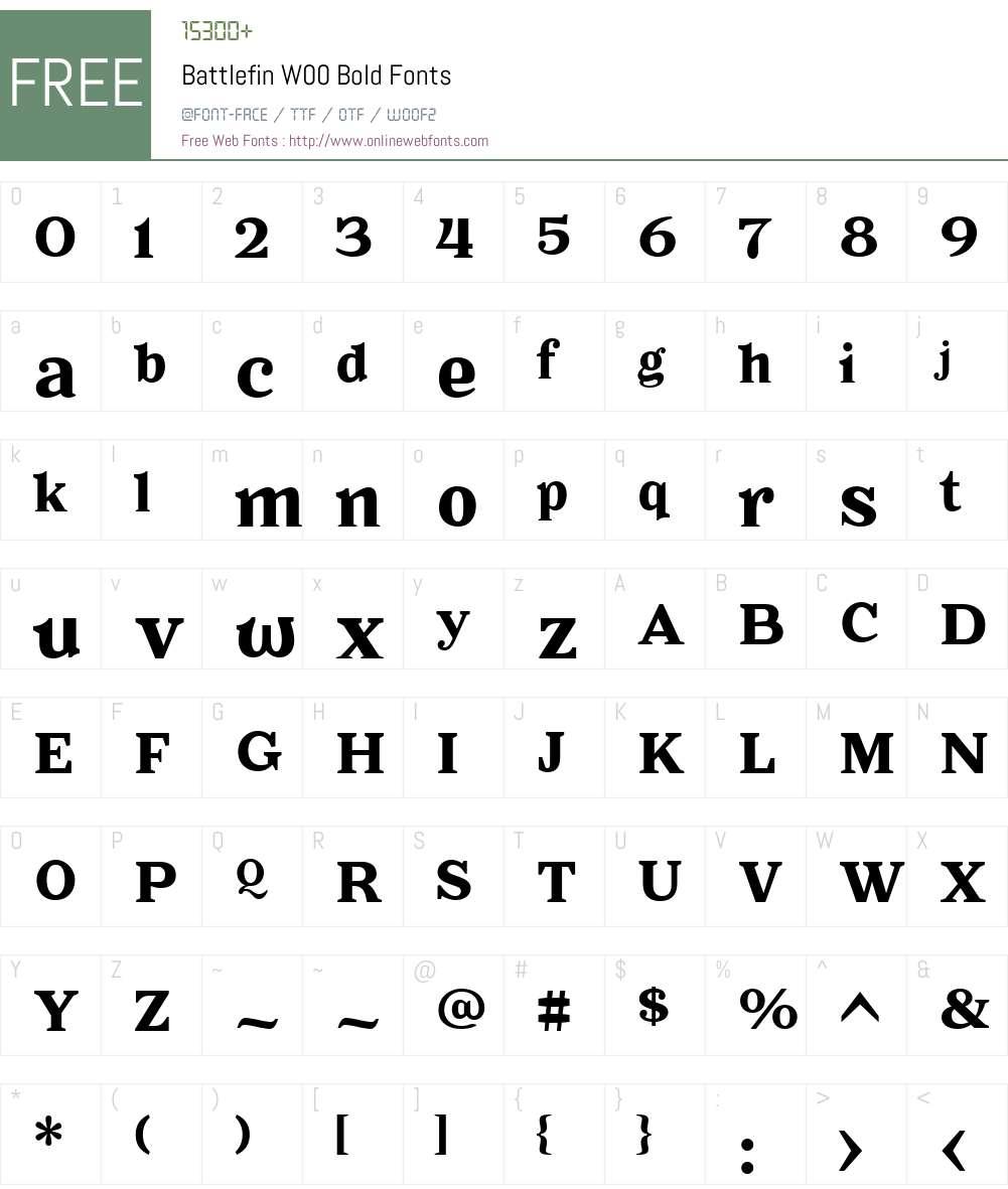 BattlefinW00-Bold Font Screenshots