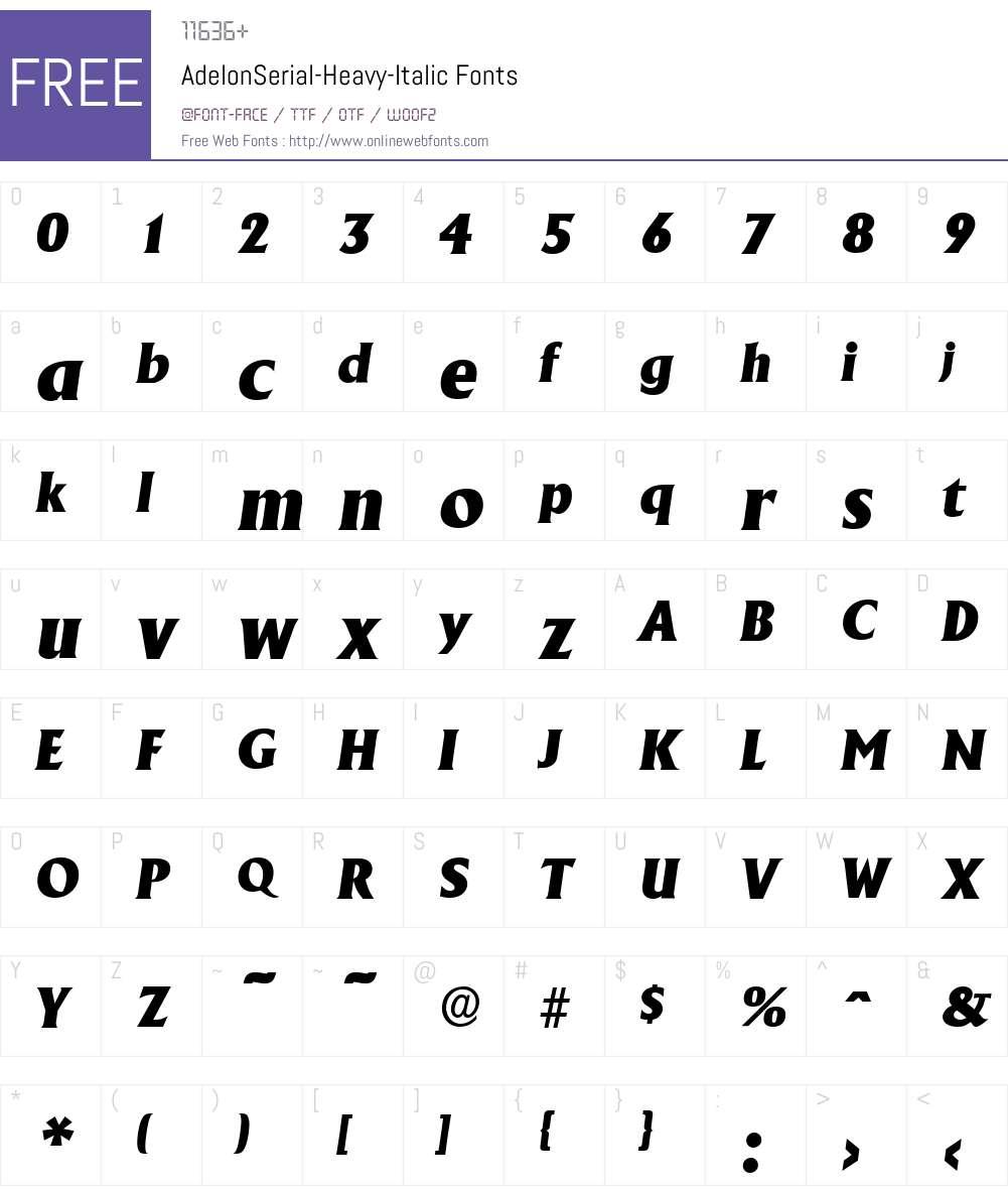 AdelonSerial-Heavy Font Screenshots