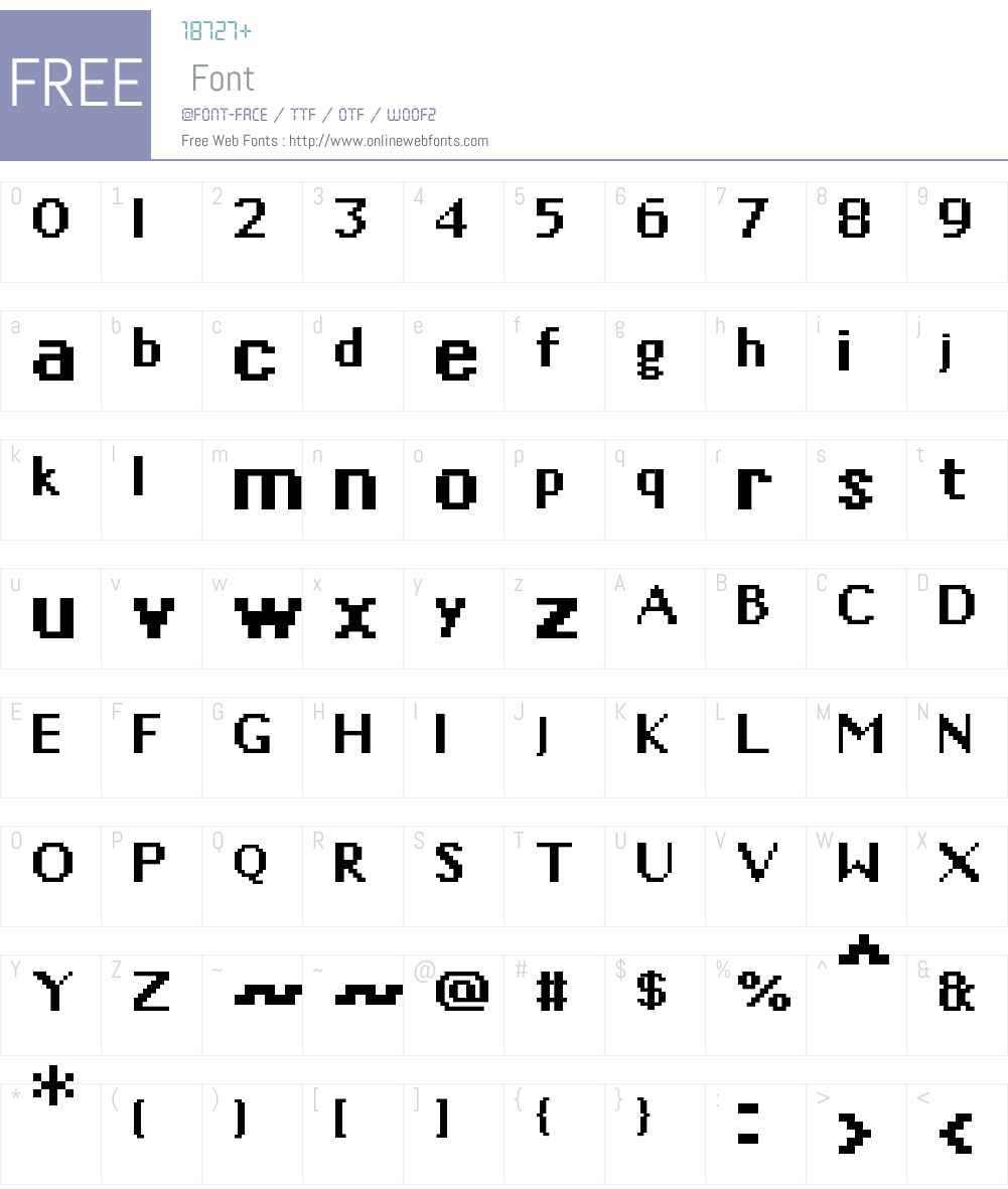 01Phonetix Font Screenshots