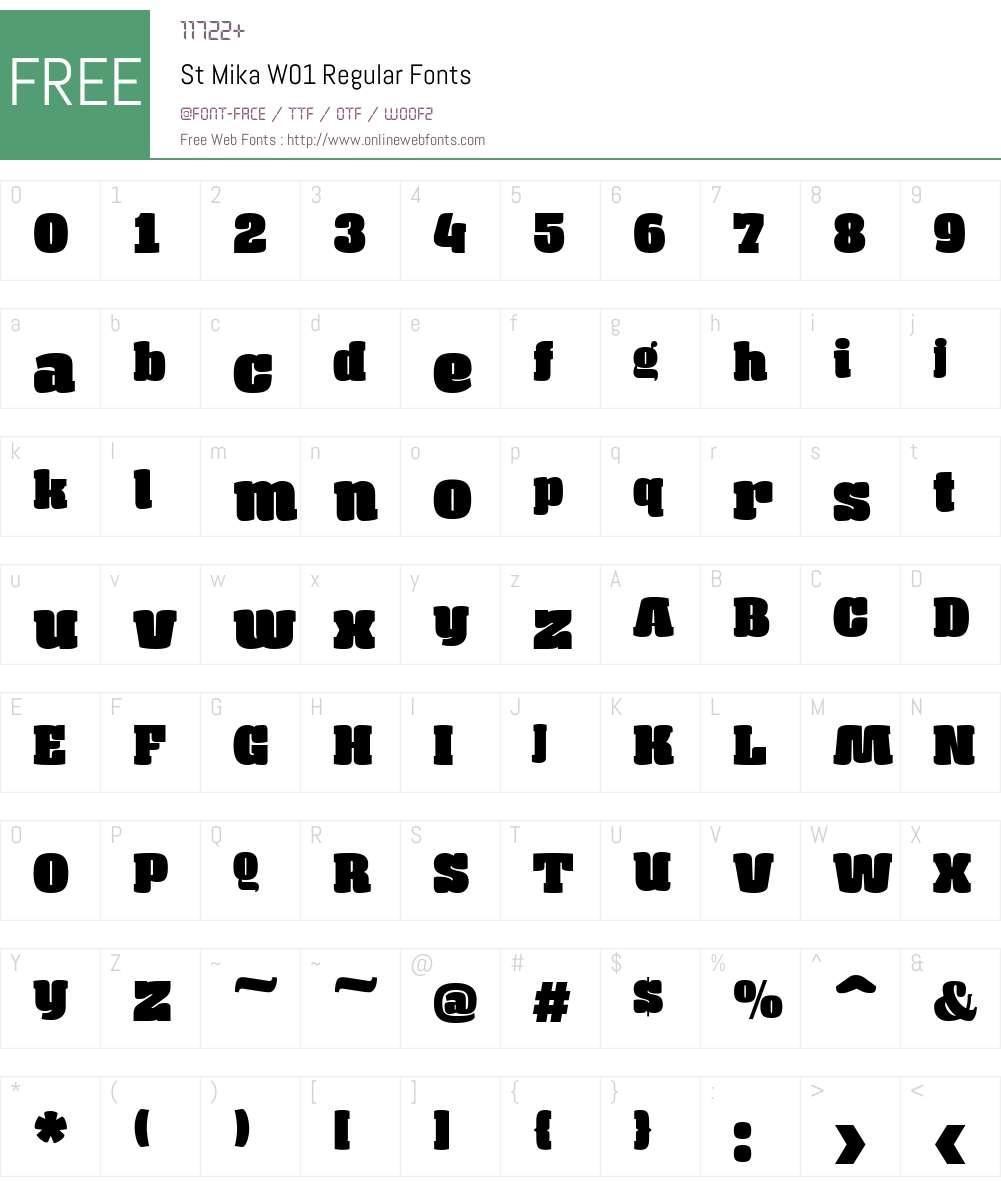 StMikaW01-Regular Font Screenshots