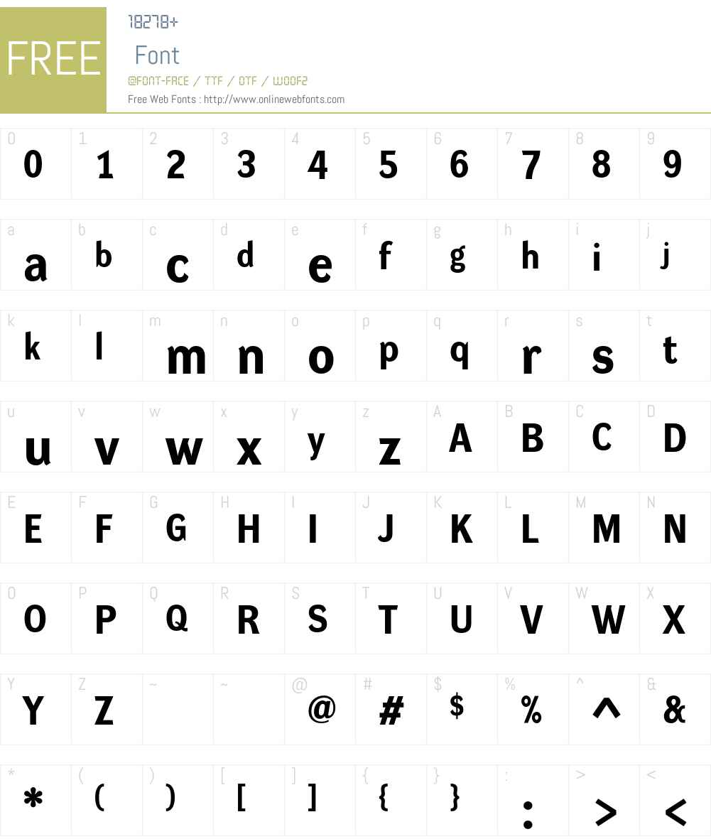 Dynamo R Font Screenshots