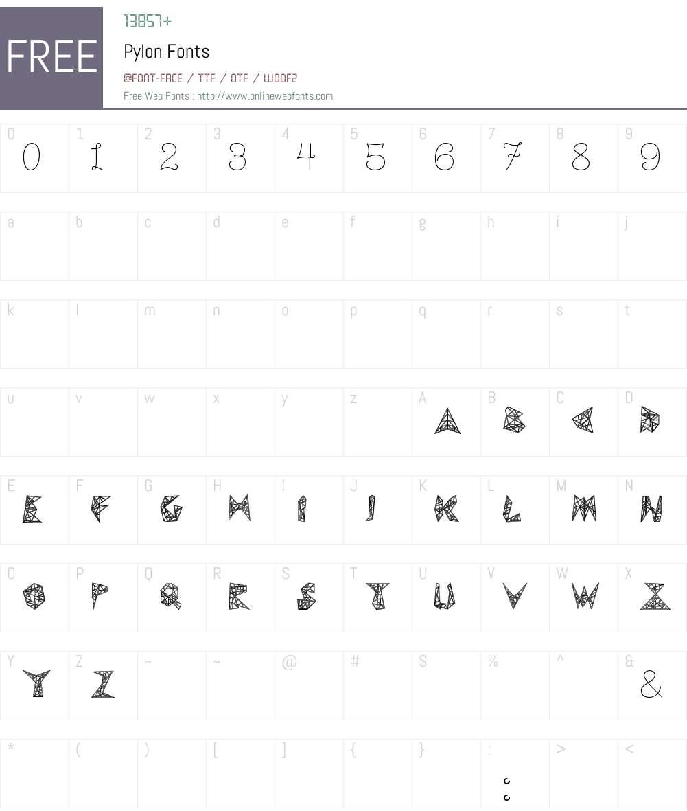 Pylon Font Screenshots