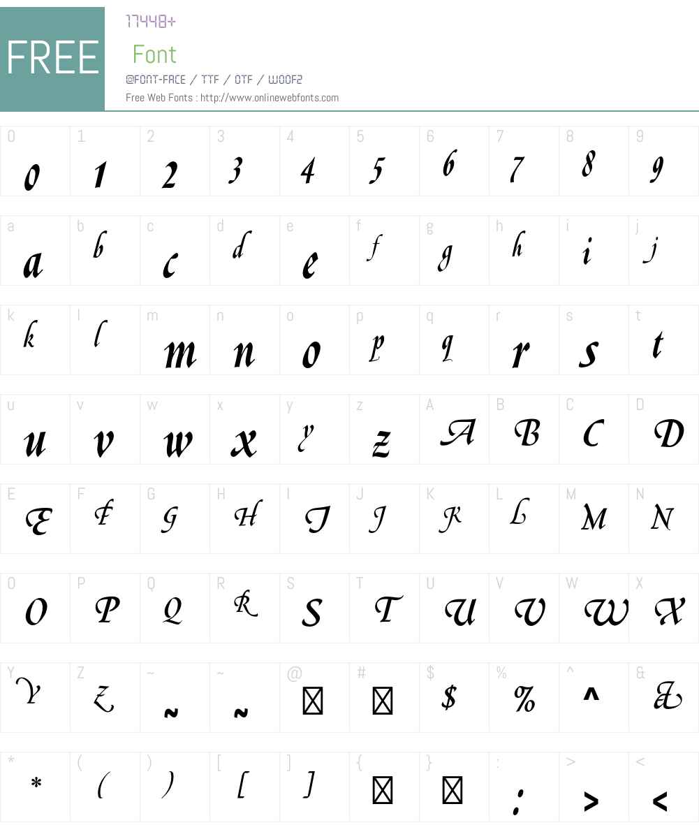 Le Griffe Std Font Screenshots
