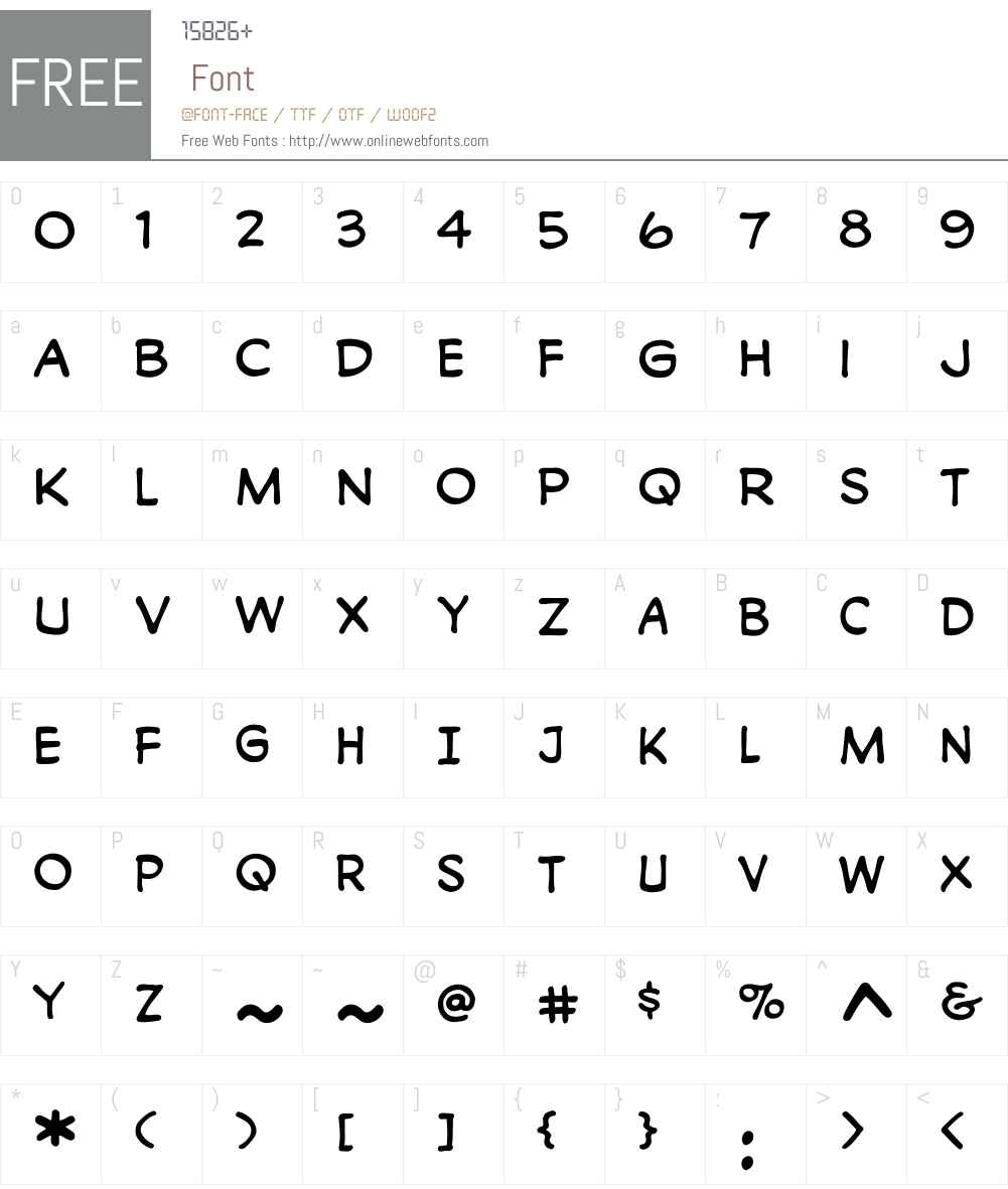CCMonologousW00-Regular Font Screenshots