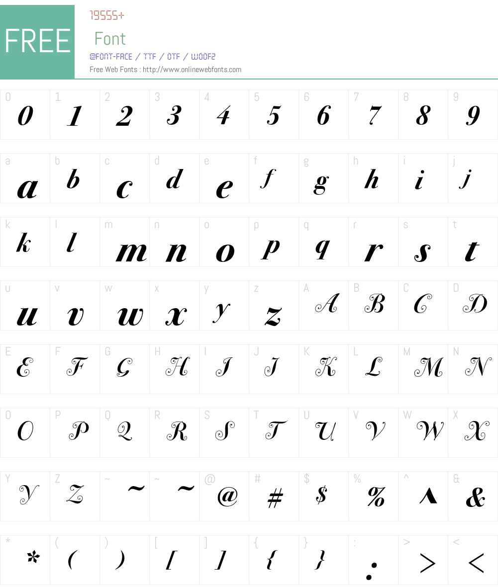 Bodoni Sev Swash ITC Font Screenshots