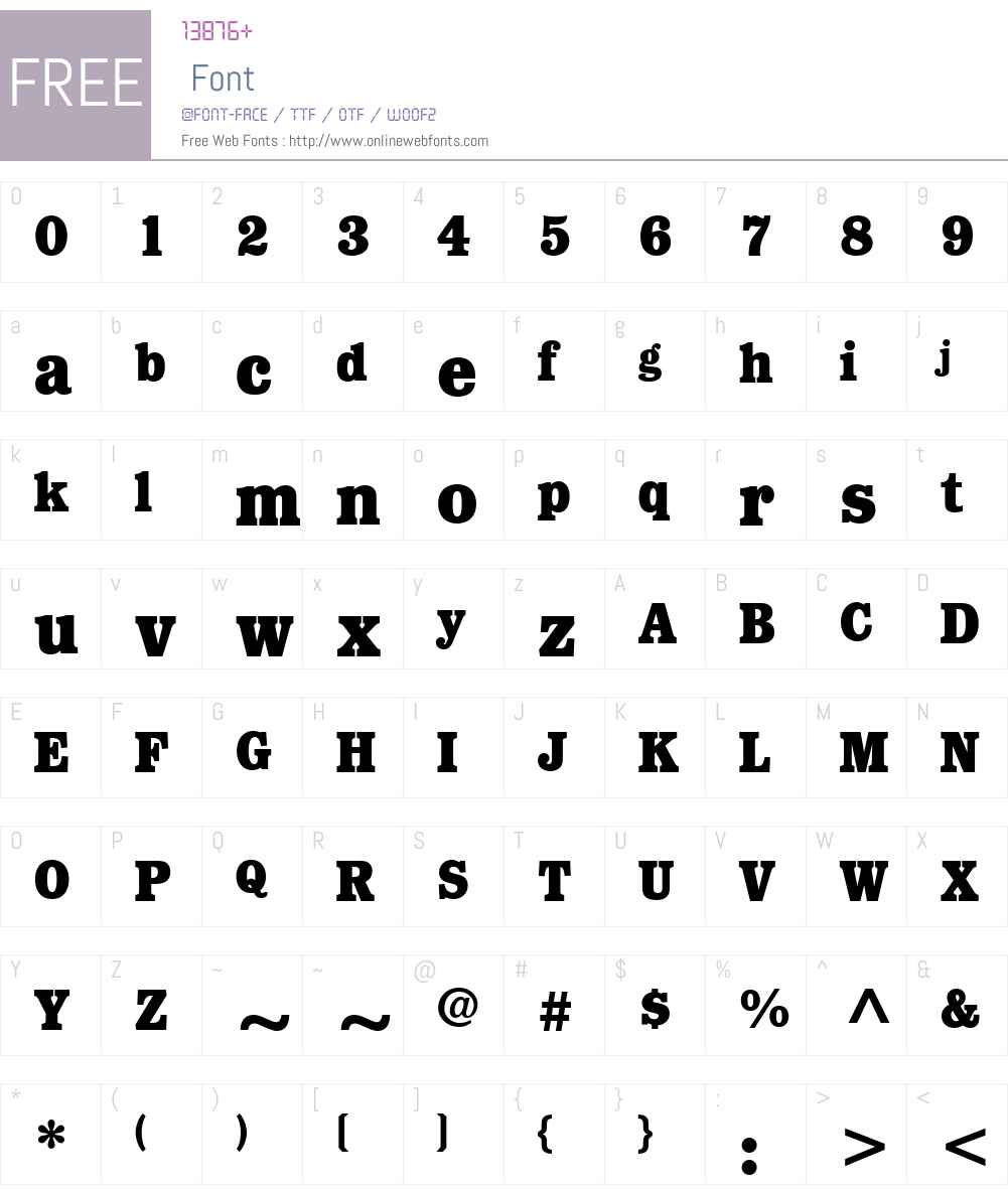 ForbesLTW01-Bold Font Screenshots
