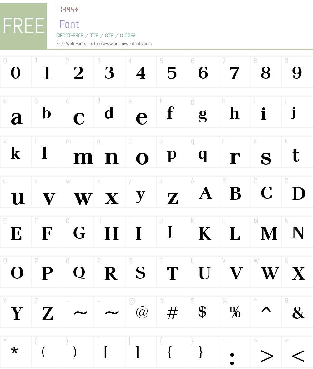 PaxW00-Bold Font Screenshots