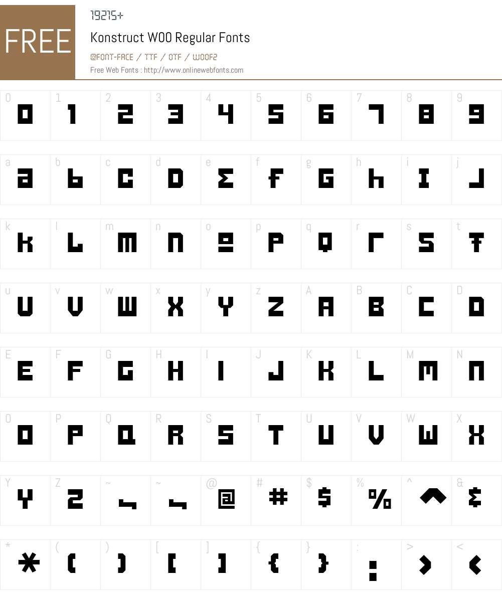 Konstruct Font Screenshots