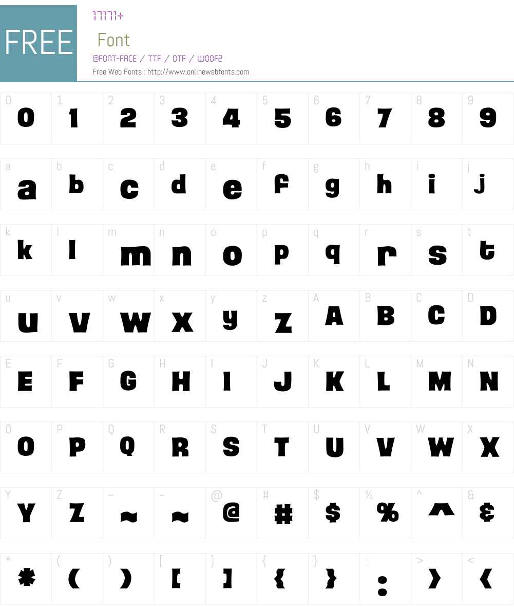 CCBackBeatW00-Bold Font Screenshots