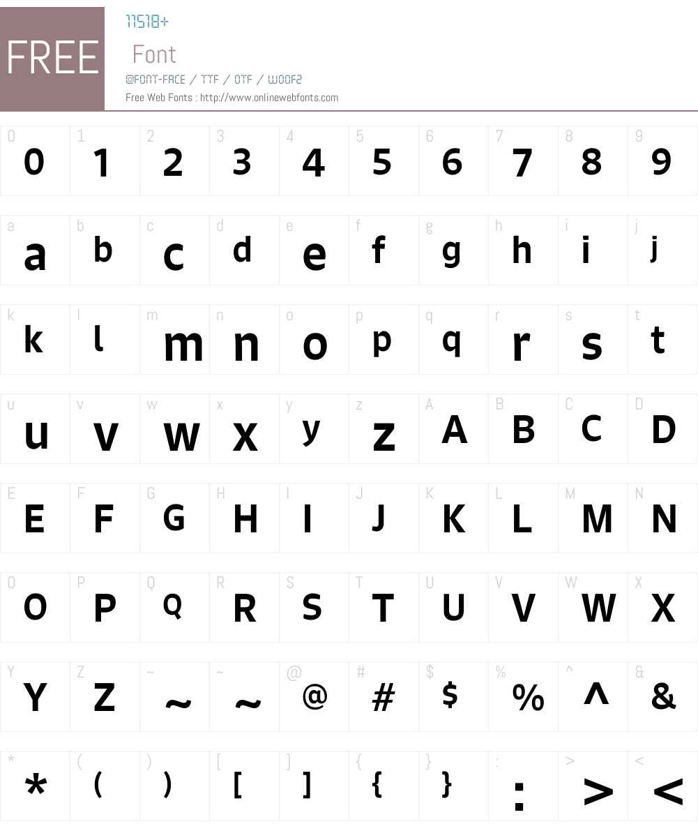SignoW01-Medium Font Screenshots