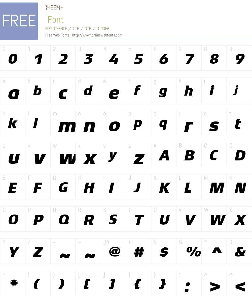XenoisSansW01-HeavyItalic Font Screenshots