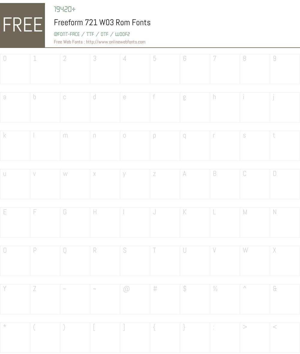 Freeform 721 Font Screenshots